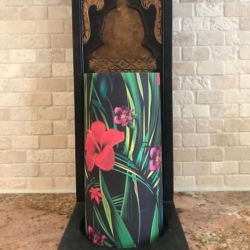 Tropical Elegance, Tall,  Flameless Candle, 4x8, Keleka Designs