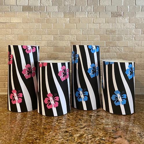 Tropical Zebra, Set, Flameless Candle, 4x6, 4x8, Keleka Designs