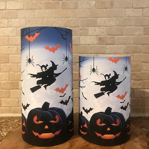 Flying into Halloween, Set, Flameless Candle, 4x6,4x8, Keleka Designs