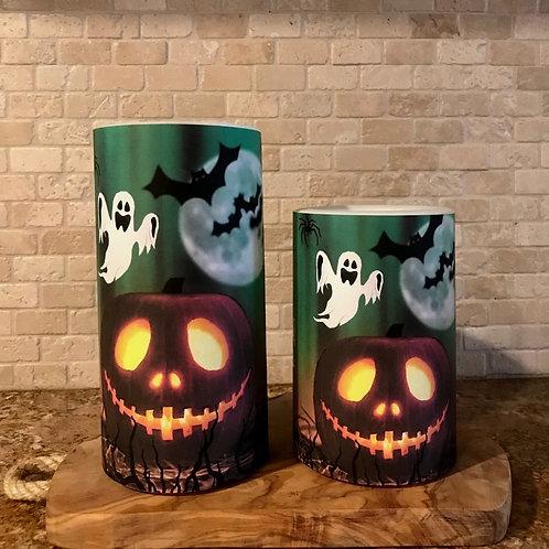 Jack O Lantern, Set, Flameless Candle, 4x6, 4x8, Keleka Designs