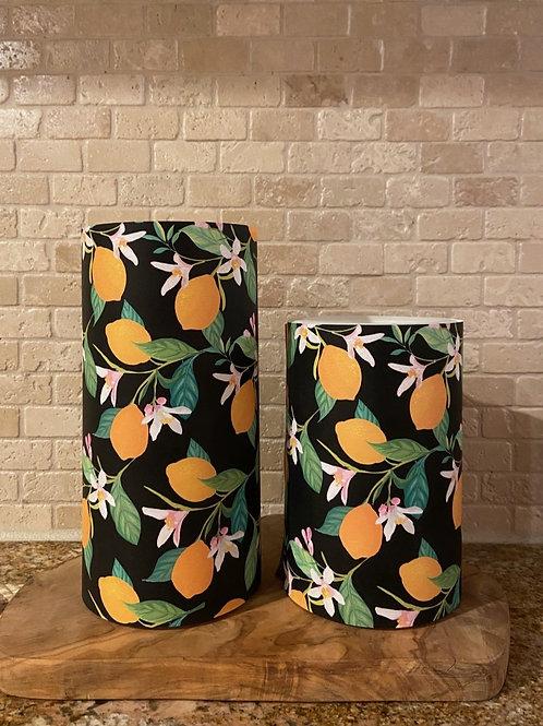 Lovely Lemons, Set, Flameless Candle, 4x6, 4x8, Keleka Designs