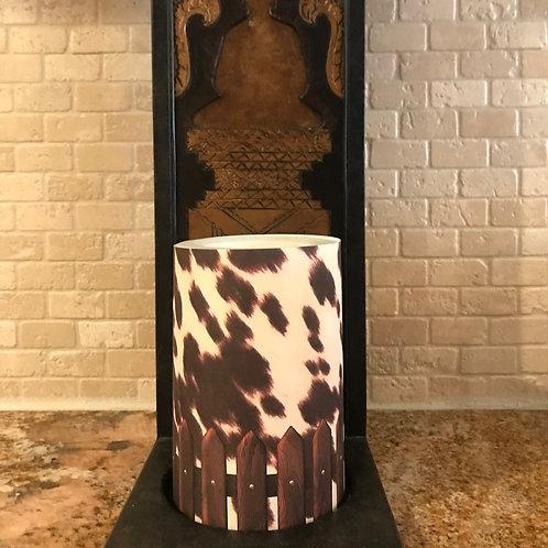 Classic Cow, Flameless Candle, 4x6, Keleka Designs