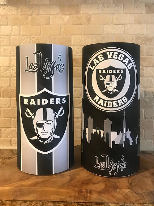 Raiders Nation, Flameless Candle, 4x8, Keleka Designs