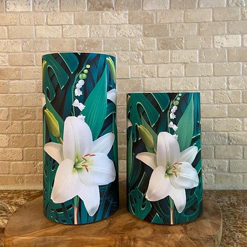 Tropical Lily, Set, Flameless Candle, 4x6, 4x8, Keleka Designs