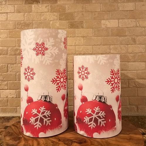 Snow Bulbs, Set, Flameless Candle, 4x6, 4x8, Keleka Designs