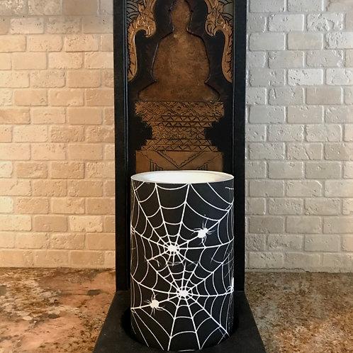 Spooky Webs,  Flameless Candle, 4x6, Keleka Designs