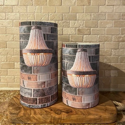 Backsplash Chandelier, Set, Flameless Candle, 4x6,4x8, Keleka Designs
