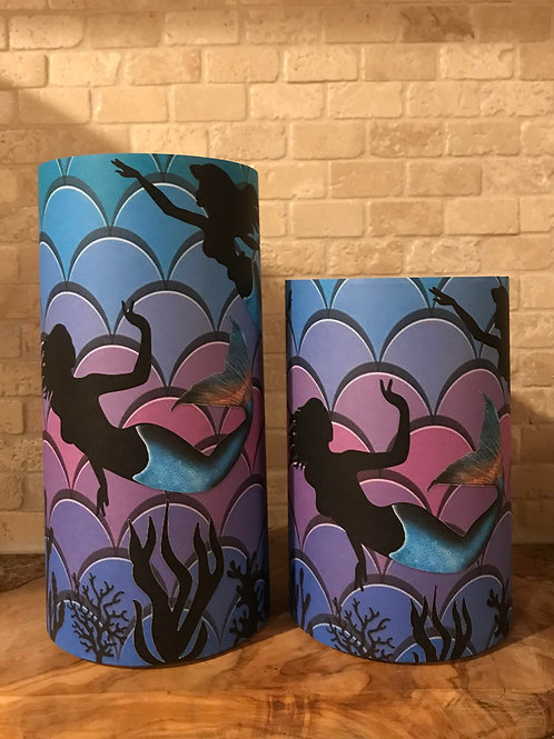 Mermaids of the Sea, Set, Flameless Candle, 4x8, Keleka Designs