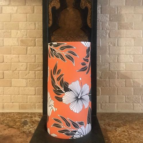 Hibiscus Kiss, Tall, Flameless Candle, 4x8, Keleka Designs