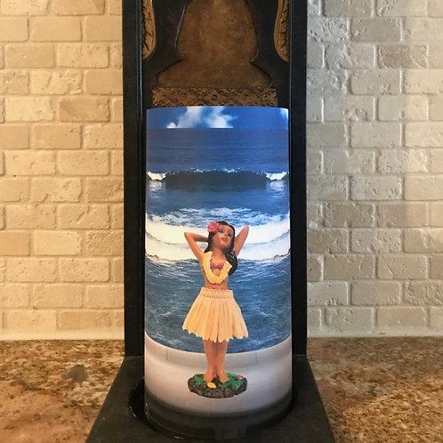 Dashboard Hula Girl, Tall, Flameless Candle, 4x8, Keleka Designs