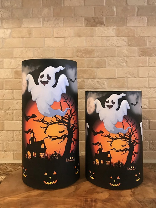 Ghosts of Halloween, Set, Flameless Candle, 4x6,4x8, Keleka Designs