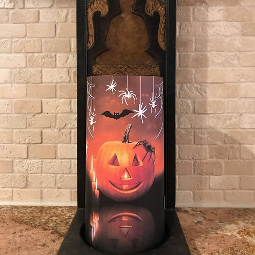 Spooktacular, Tall,  Flameless Candle, 4x8, Keleka Designs