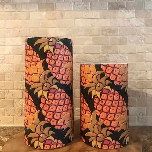 Pineapple's of Fall, Set, Flameless Candle, 4x6,4x8, Keleka Designs