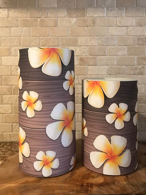 Plumerias, Set, Flameless Candle, 4x6, 4x8, Keleka Designs