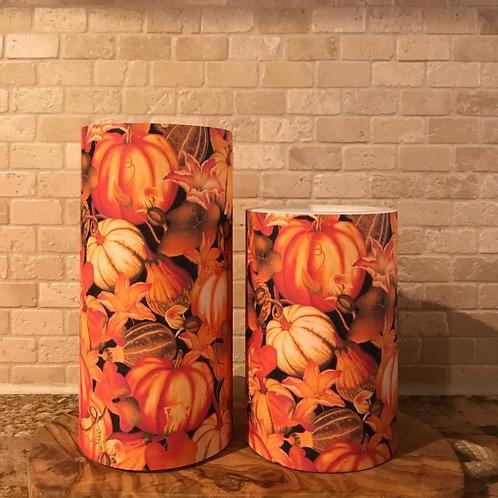 Pumpkin Spice, Set, Flameless Candle ,4x6, 4x8, Keleka Designs