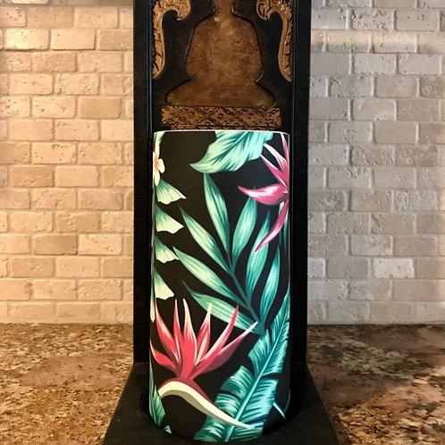 Blooming Tropics, Tall,  Flameless Candle, 4x8, Keleka Designs