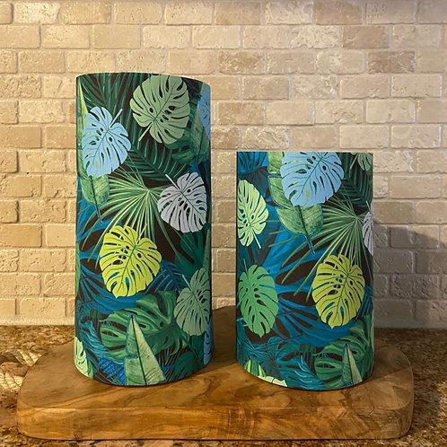 Earth Palms, Set, Flameless Candle, 4x6, 4x8, Keleka Designs