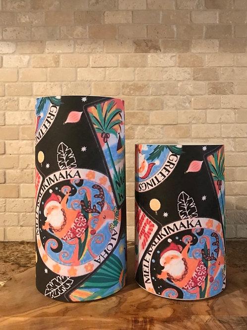Mele Kalikimaka, Set, Flameless Candle, 4x6, 4x8, Keleka Designs