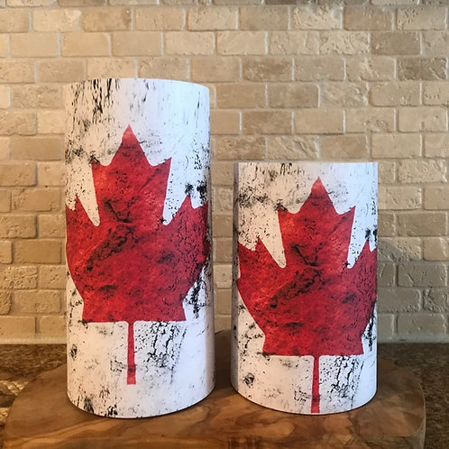 Any State or Country Flag, Set, Flameless Candle, 4x6, 4x8, Keleka Designs