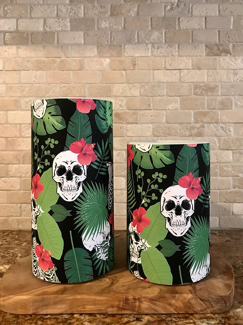 Hawaiian Halloween, Set, Flameless Candle, 4x6, 4x8, Keleka Designs