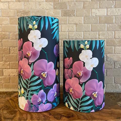 Wild Orchids, Set, Flameless Candle, 4x6,4x8, Keleka Designs