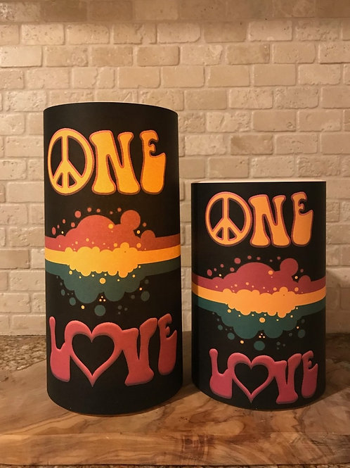 One Love, Set, Flameless Candle, 4x6, 4x8, Keleka Designs