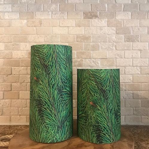 Christmas Tree, Set, Flameless Candle ,4x6, 4x8, Keleka Design