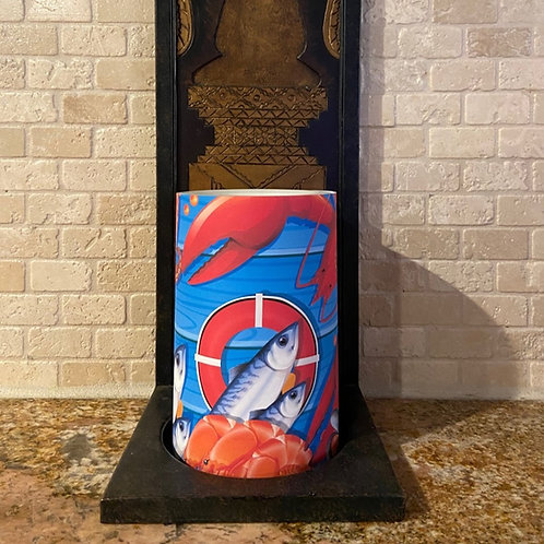 Lobster Shack,  Flameless Candle, 4x6, Keleka Designs