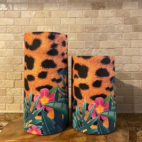 Wild Cheetah, Set, Flameless Candle, 4x6,4x8, Keleka Designs