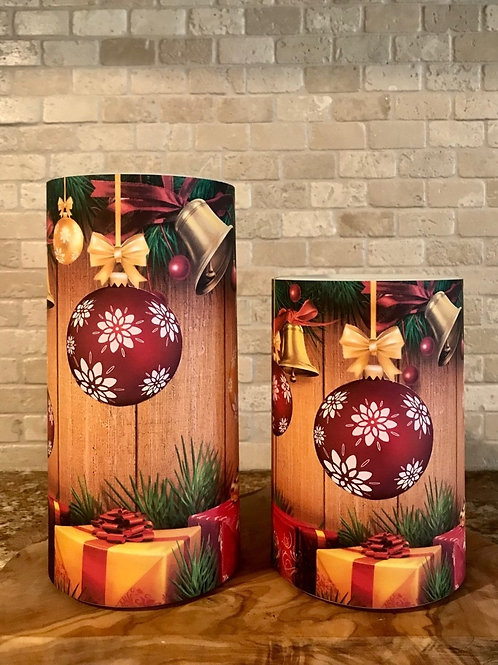 Jingle Bells, Set, Flameless Candle, 4x6, 4x8, Keleka Designs