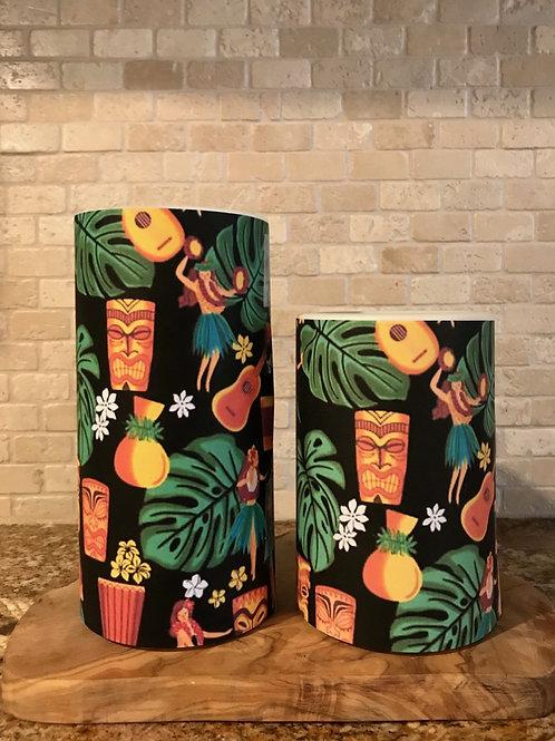 Tropical Hula, Set, Flameless Candle, 4x6, 4x8, Keleka Designs