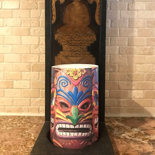 Tiki Time, Flameless Candle, 4x6, Keleka Designs