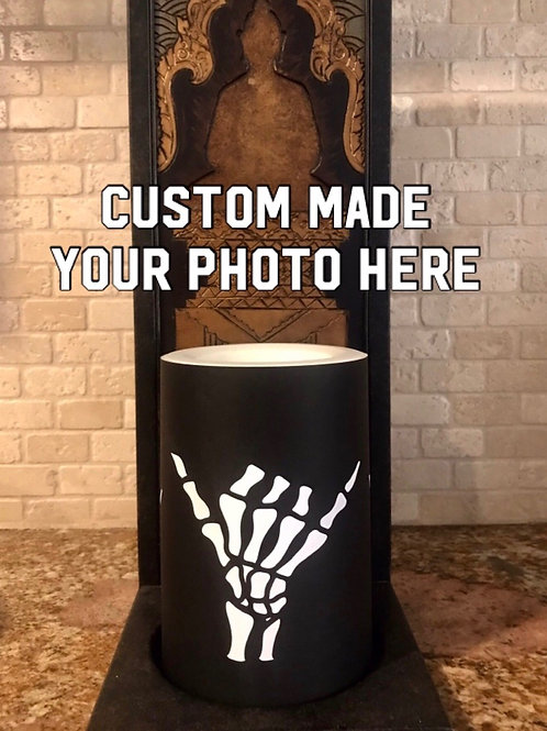 Your Photos Here, PERSONALIZED, Flameless Candle, 4x6, Keleka Designs