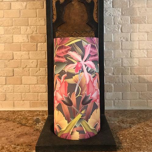 Flowers of Paradise, Tall, Flameless Candle, 4x8, Keleka Designs