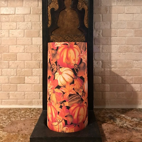 Pumpkin Spice, Tall, Flameless Candle , 4x8, Keleka Designs