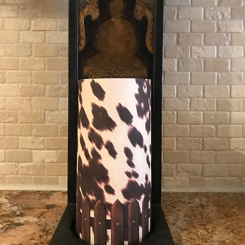 Classic Cow, Tall, Flameless Candle, 4x8, Keleka Designs