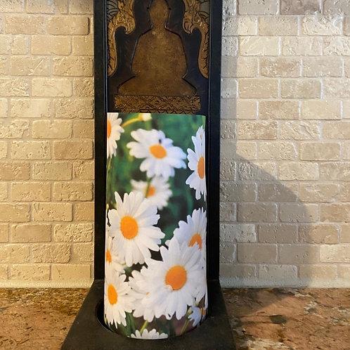 Daisies, Tall, Flameless Candle, 4x8, Keleka Designs