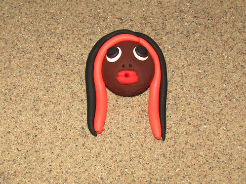 Incense holder, Black and Orange, Keleka Designs
