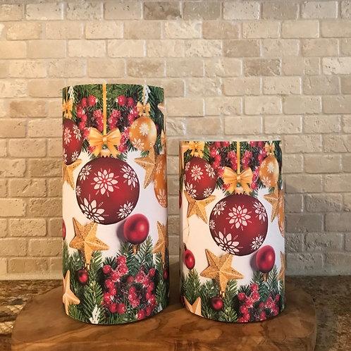 Evergreen Holiday, Set, Flameless Candle, 4x6, 4x8, Keleka Designs