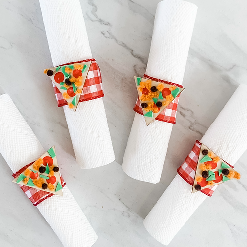 ADD ON: Pizza Napkin Rings