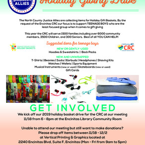 CALL TO ACTION: Holiday Giving Drive