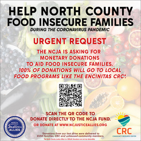 COVID-19 CRISIS: Help Food Insecure Families in North County
