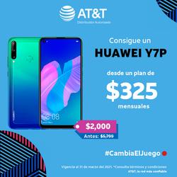 HUAWEI Y7P desde un plan de $325 con AT&