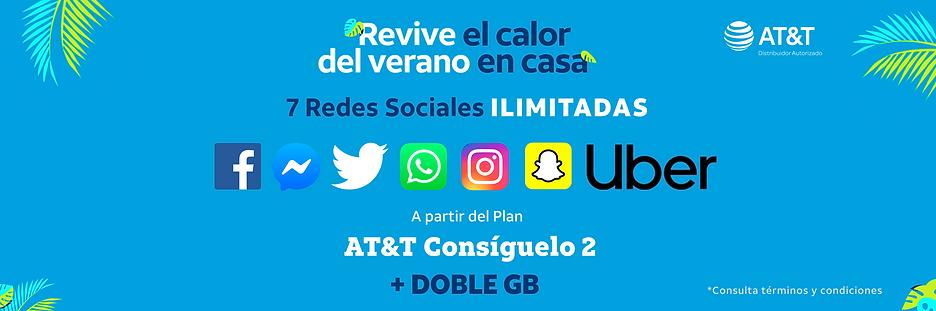 7 Redes sociales a partir de AT&T Consig