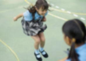 Schoolgirls Playing
