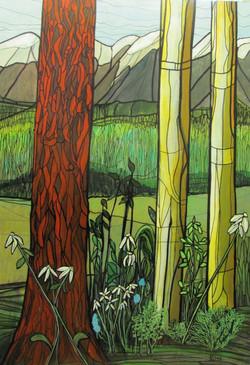 Dawn & Daisies Painting