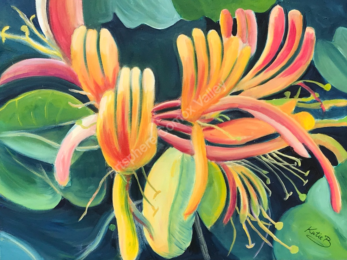 Honeysuckle - Painting