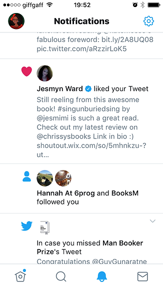 Jesmyn Ward Blog Post like for Chrissy's Books