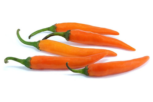 Bulgarian Carrot Hot Pepper - Green to- Orange - 10 seeds