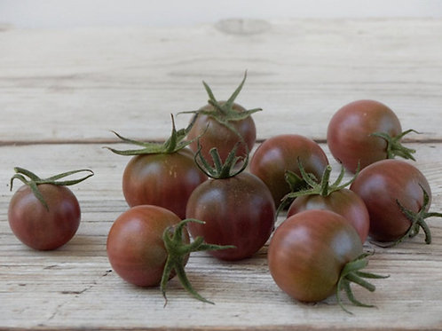 10 Seeds Chocolate Cherry Tomato -Good for Sauce and Fresh- Freezing